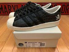 adidas X Neighborhood Superstar 80v NBHD Black White Croc