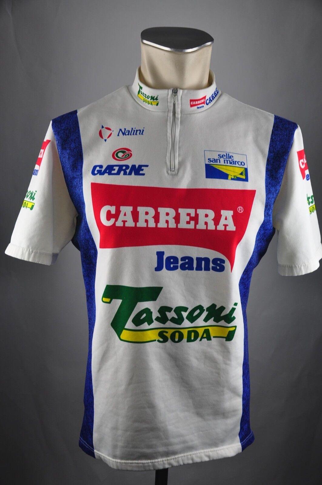 Carrera Jeans Tassoni Rad Trikot Gr. 5 BW 54cm Bike cycling jersey Shirt FZ1