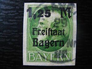 BAVARIA BAYERN GERMAN STATES Mi. #174B scarce used imperf stamp! CV $55.00