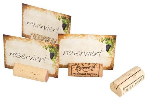 Reserviert-Schilder mit gebrauchten Korken-Tischaufsteller Restaurant Tischdeko