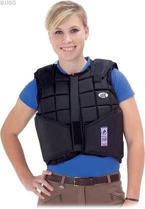USG chaleco seguridad flexi negro, adultos, niños, reitweste, Spring chaleco, montar a caballo