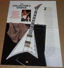 Zakk Wylde's replica of Randy Rhoads Jackson guitar centerfold Children of Bodom
