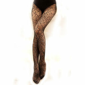 Spider-Web-Tights-Halloween-Witch-Fancy-Dress-Costume-Accessory-UK-Seller