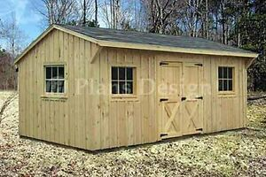 10 X 16 Saltbox Roof Style Storage Shed Plans 71016 753182758527