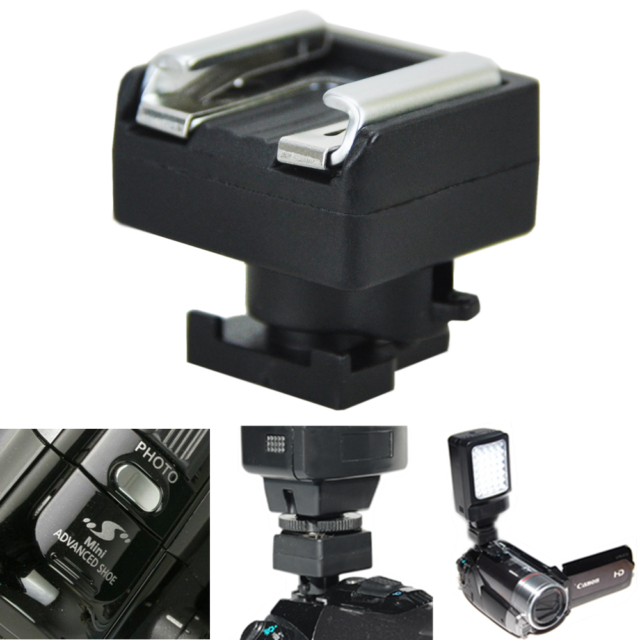 Mini Advanced Hot Shoe to Universal Shoe Adapter for Canon VIXIA HF 200 S100 M30