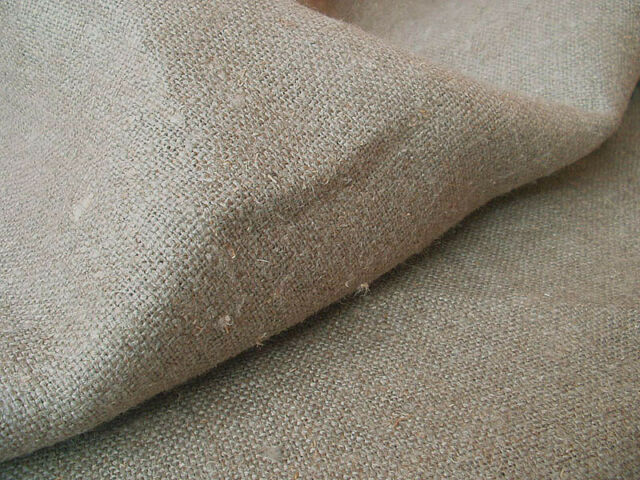 Upholstery Natural Ecru Burlap Dense Linen flax Fabric Decorator Sold by the yar