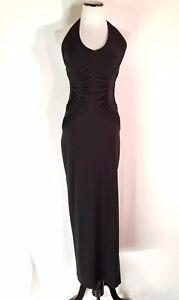 0def4c4867e Women s Vintage ROBERTA Black Halter Top Formal Dress Size Small ...