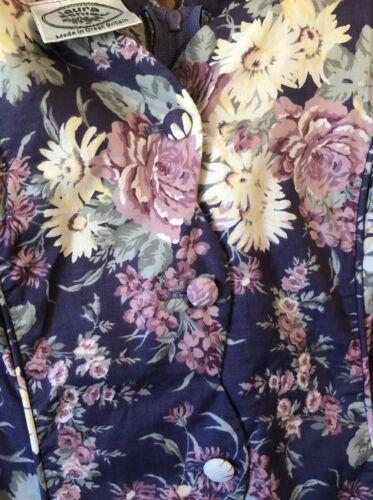 Rara Vintage LAURA: Hermoso En Flor Floral ASHLEY algodón vestido de té: Reino Unido 10