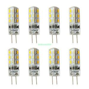 8x g4 warmes wei led kristall mais birnen 24 3014 smd silikon lampe 12v dc 3w ebay. Black Bedroom Furniture Sets. Home Design Ideas