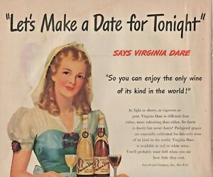 1947 Virginia Dare Wine Vintage Print Ad Let S Make A Date For Tonight Ebay