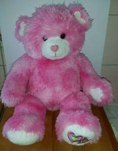 Build-a-Bear-Teddy-Pink-Loveheart-Plush-Soft-Toy-BAB