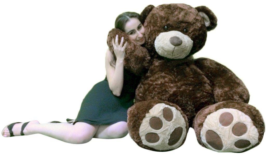 Big Plush Valentine's Day 5 Foot braun Giant Teddy Bear Soft Life Größe Hug Buddy