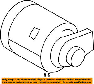 ford oem 10 13 transit connect fuel door lock cylinder 2s6z5828624a Electric Engine Diagram image is loading ford oem 10 13 transit connect fuel door