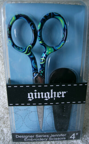 GINGHER 4 DESIGNER SERIES EMBROIDERY SCISSORS  ~ JENNIFER ~ **NEW**