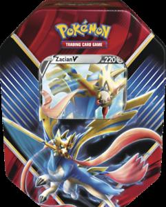 4x Booster, Holo-Karte NEU - DEUTSCH Pokemon Zacian V Tin Box 2020