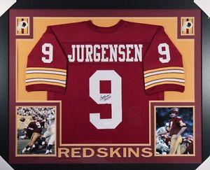 81933a252da Image is loading Sonny-Jurgensen-Signed-Redskins-35x43-Framed-Jersey -Inscribed-