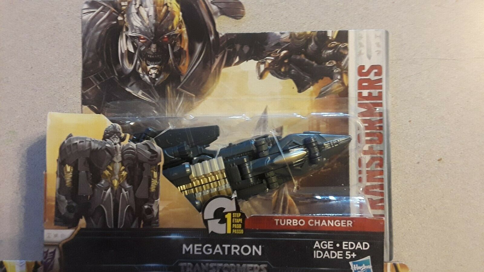 Transformers el último caballero 1 paso Turbo Cambiador Megatron & Hound 3
