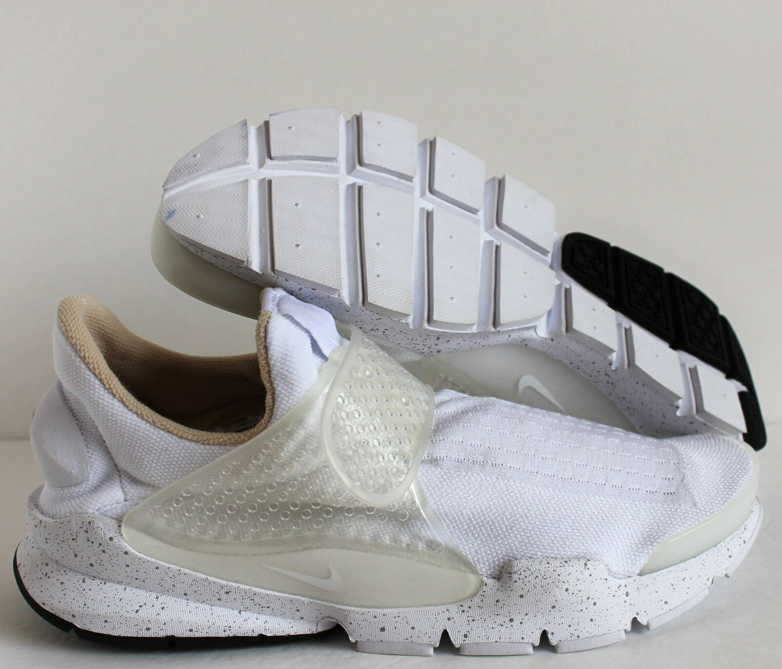 NIKE MEN SOCK DART ID WHITE-BLACK SZ 10
