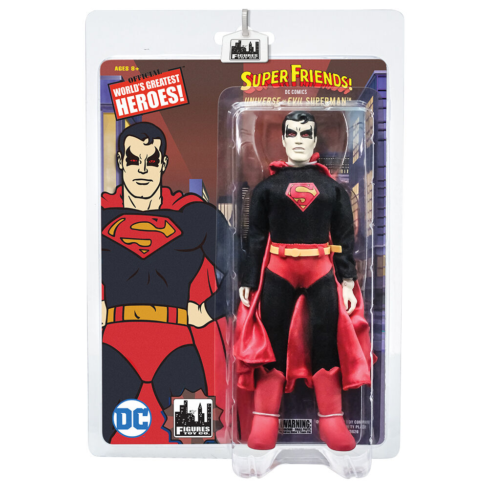 Super Friends 8 Inch Retro Style Action Figures Universe of Evil  Superman