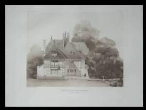 VILLA-IN-NORMANDY-1909-ARCHITECTURE-PRINT-LOISEL-FRANCE