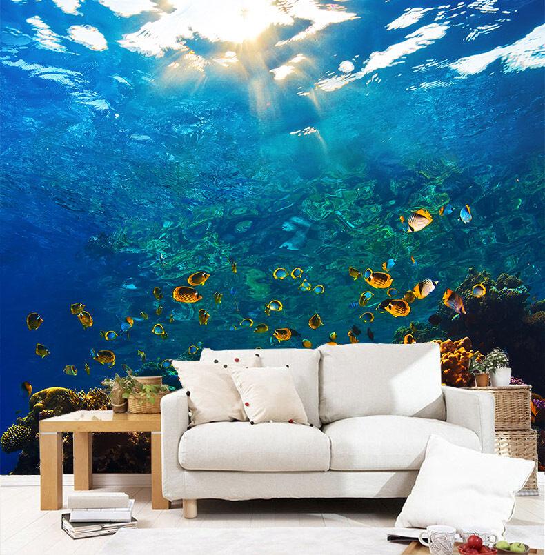 3D Die fische unter sonne Fototapeten Wandbild Fototapete BildTapete Familie DE