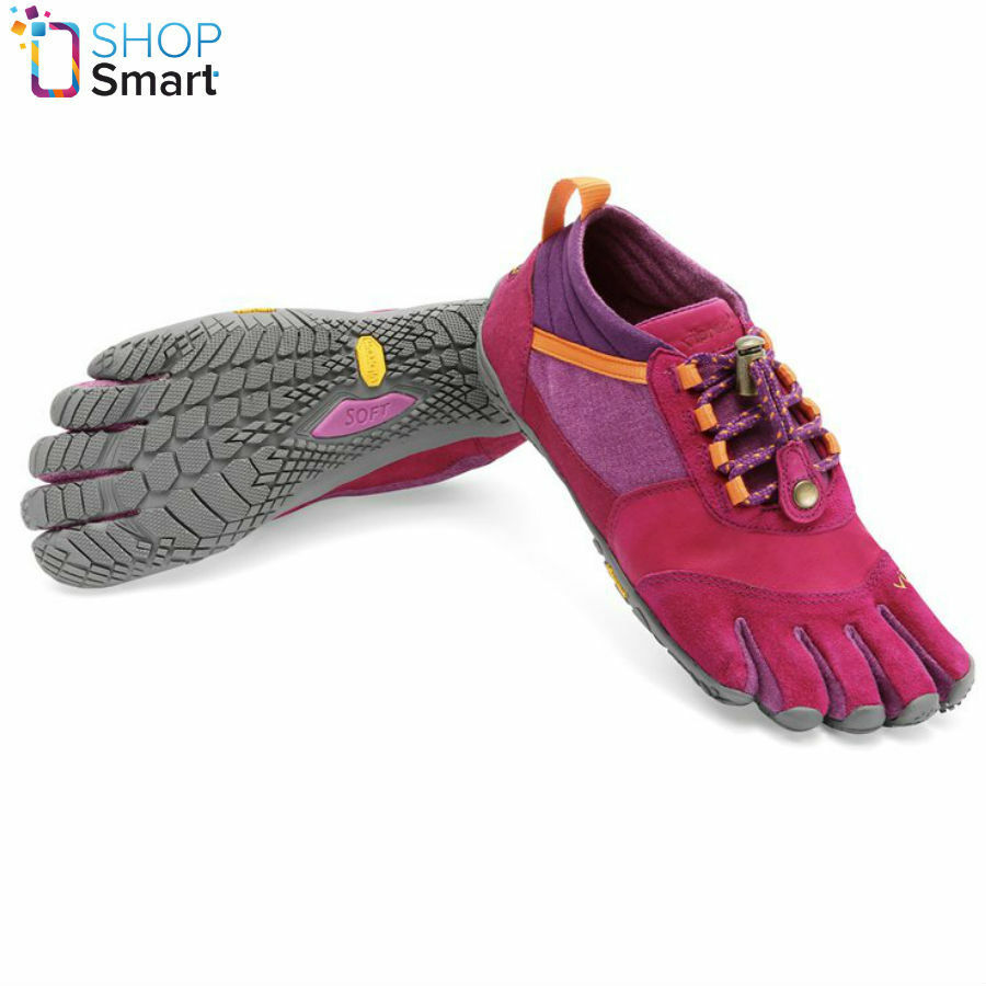 VIBRAM TREK ASCENT LR  W4605 FIVEFINGERS WOMENS SHOES PINK GREY RUNNING BAREFOOT