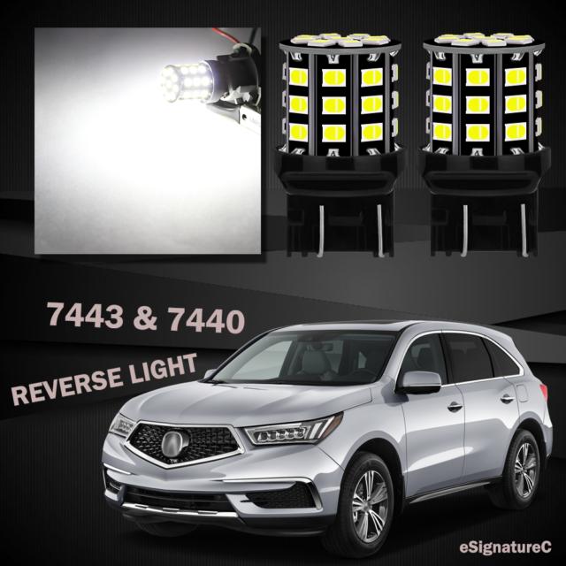 2 X White Backup Reverse Light 7443 7440 33SMD LED For
