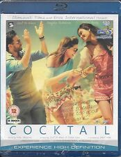 COCKTAIL - NEW ORIGINAL BOLLYWOOD BLU RAY - FREE UK POST