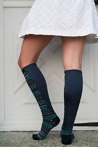 e7825e673f Xpandasox Plus Size/Lymphedema Socks 24 inches at Calf, Navy Stripe ...
