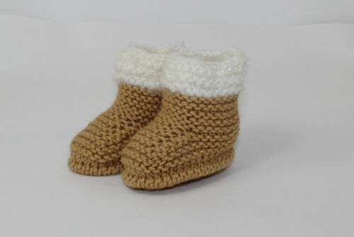 KNITTING INSTRUCTIONS CHUNKY BABY FUR TOP BOOTIES  SHOES BOOTS KNITTING PATTERN