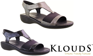 Klouds shoes - Orthotic friendly comfort leather stretch Sandals Alyce