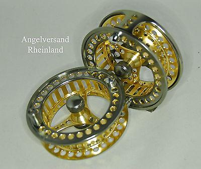 gefräste Fliegenrolle in 4 Größen bicolor Rulonbremse by Angelversand Rheinland