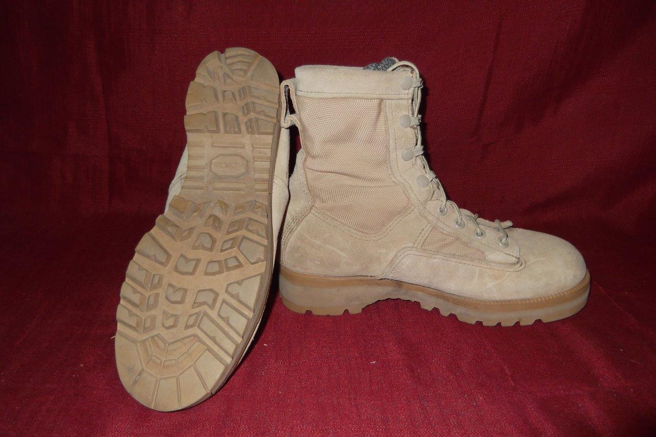 Military Boots 7 Reg Desert Tan USA Combat Cold WX Work Men Boys 407