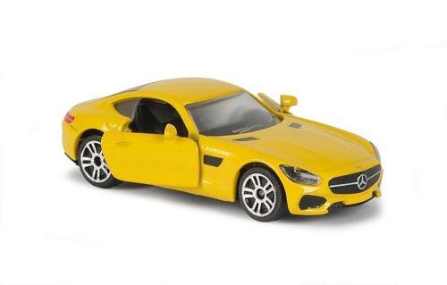 MAJORETTE 212053052-Premium CARS-MERCEDES-BENZ AMG GT-GIALLO-NUOVO