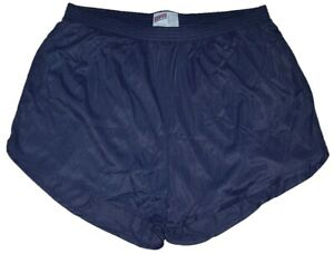 Soffe-Navy-Blue-Nylon-Ranger-Panties-Silkies-Running-Track-Shorts-Men-039-s-XL