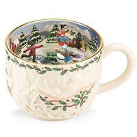 Lenox ~ Holiday Musical Large Mug Tea Cup Skaters ~ Jingle Bells NIB ~ HTF