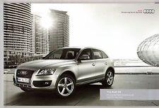 Audi Q5 2010-11 UK Market Sales Brochure Standard SE S line Special Edition