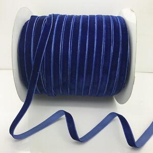 "New Hot 5 yards 3//8/""10mm blue Velvet Ribbon Headband Clips Bow Craft supplies"