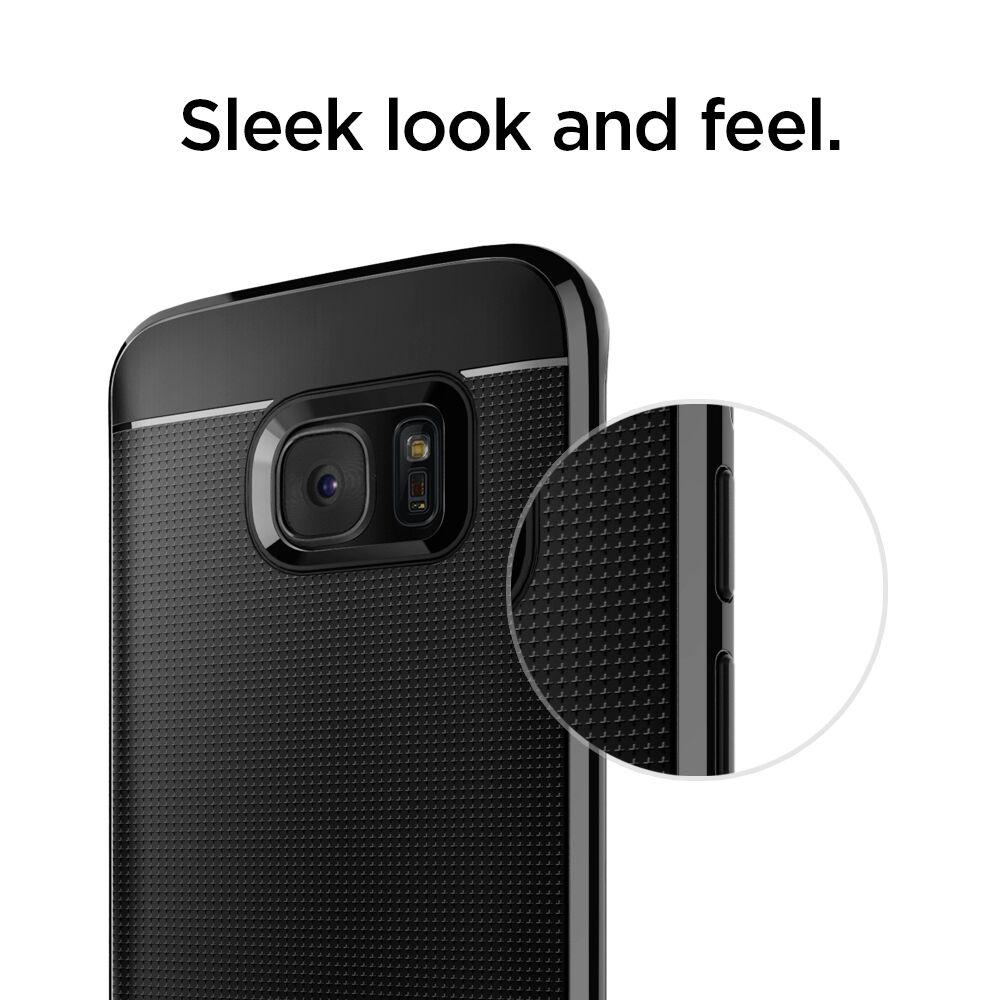 Spigen Galaxy S7 Edge Case Champagne Gold Neo Hybrid Reinforced Samsung Carbon Bumper Frame Ebay