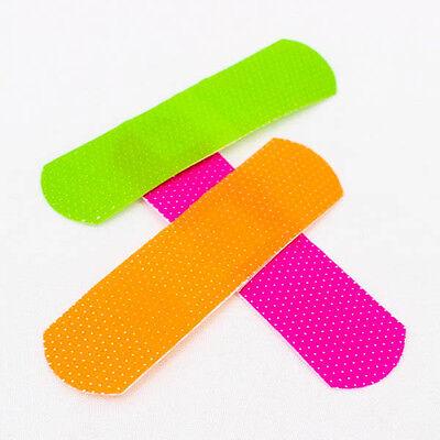 "1""x3"" Neon Sheer Waterproof BANDAIDS Flexible Breathable BANDAGES Durable A0698"