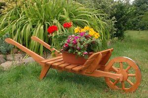 Xxl carriola fioriera carriola legno carriola piante legno for Fioriera carriola