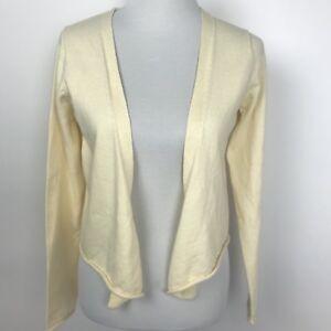 GAP-Women-039-s-Size-Medium-Yellow-Open-Cardigan-Sweater-Cotton-Angora-Blend-NEW
