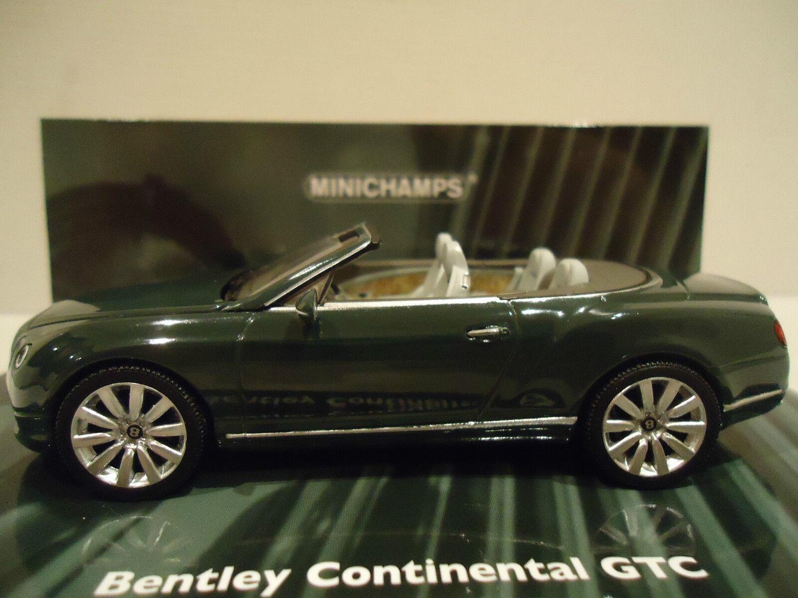 Minichamps  1 43  bentley continental    gtc  2011  green 57432b