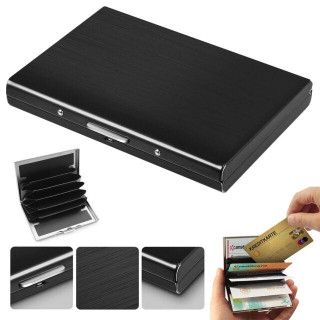 Metal RFID Blocking Wallet Anti-Scan Contactless Credit Card Holder G9C