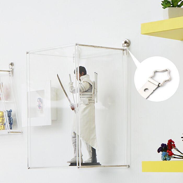 [ Nuevo ] Clásico Transparente Colgante De Parojo Pantalla Funda Para Ladrillos, Figuras De Acción, etc..