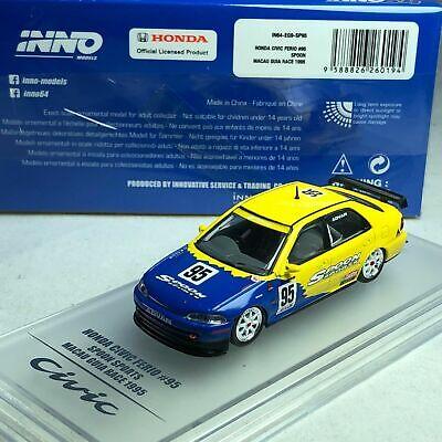 "Inno64 Honda Civic Ferio #95 ""Spoon Sports"" Macau Grand Prix 1995 1//64"