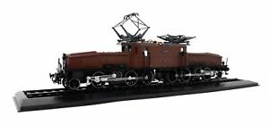 Atlas-1-87-H0-Eisenbahn-E-Lok-Ce-6-8-II-Krokodil-braun-1919-SBB-Standmodell