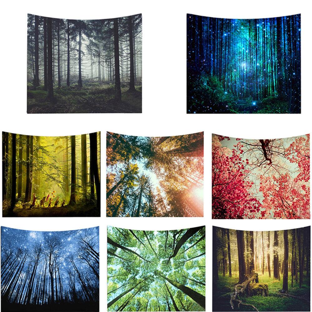 Eg _ Wald Baum Wandteppich Zimmer Wandbehang Strandtuch Decke Wohndeko Reliab