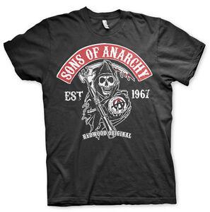 Sons-Of-Anarchy-Redwood-Original-Red-Patch-Grim-Reaper-SoA-MC-Maenner-Men-T-Shirt