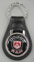 Vintage Black Dodge Ram Black Leather Usa Keyring 1932 1933 1934 1935 1936 1937